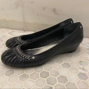 Style&Co Black Flats with chain detail